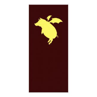 Flying piggy custom rack cards