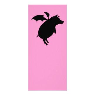 Flying piggy rack card template