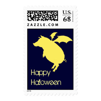 Flying piggy stamp