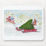 Flying Pigs Bringing Home the Tree Mousepads