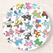 flying pigs drink coaster