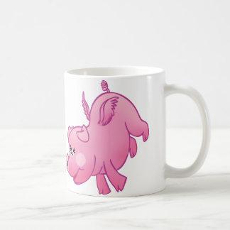 Flying pigs in love! coffee mug