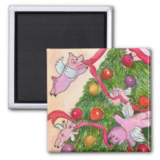 Flying Pigs Magnet Decorate the Christmas Tree