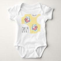 Flying Pigs New Baby born in 2019 Baby Bodysuit