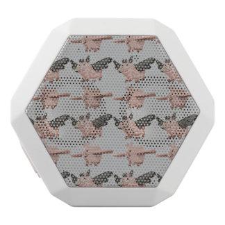 Flying Pigs Pattern White Bluetooth Speaker