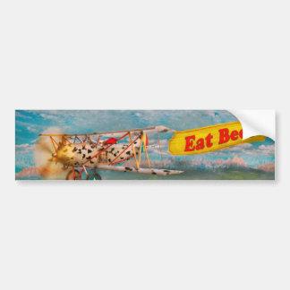 Flying Pigs - Plane - Eat Beef Car Bumper Sticker