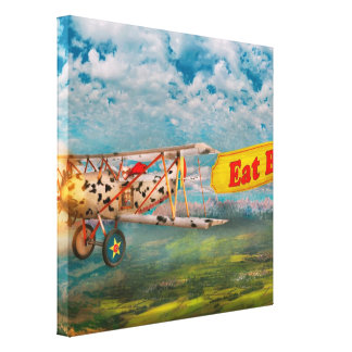 Flying Pigs - Plane - Eat Beef Canvas Print