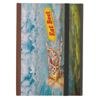 Flying Pigs - Plane - Eat Beef iPad Air Cover