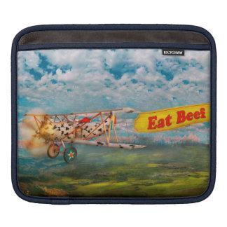 Flying Pigs - Plane - Eat Beef iPad Sleeves