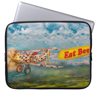 Flying Pigs - Plane - Eat Beef Laptop Computer Sleeve