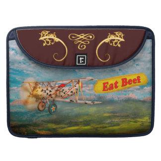 Flying Pigs - Plane - Eat Beef Sleeves For MacBooks