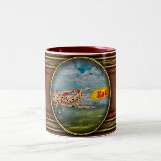 Flying Pigs - Plane - Eat Beef Two-Tone Coffee Mug
