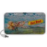 Flying Pigs - Plane - Eat Beef Portable Speakers