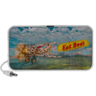 Flying Pigs - Plane - Eat Beef Portable Speakers