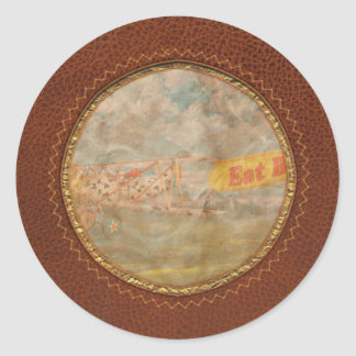 Flying Pigs - Plane - Eat Beef Classic Round Sticker