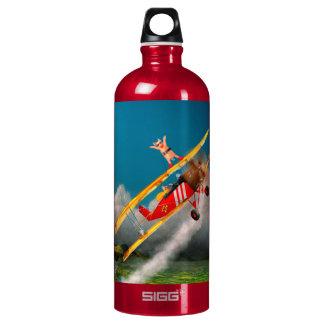 Flying Pigs - Plane - Hog Wild Aluminum Water Bottle