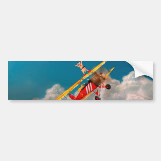 Flying Pigs - Plane - Hog Wild Bumper Sticker