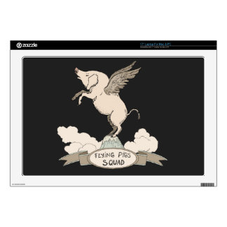 """Flying Pigs Squad 17"""" Laptop Decals"""