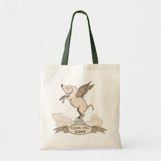 Flying Pigs Squad Budget Tote Bag