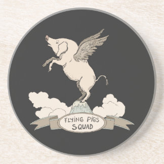 Flying Pigs Squad Drink Coaster