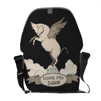 Flying Pigs Squad Messenger Bag