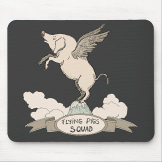 Flying Pigs Squad Mouse Pad