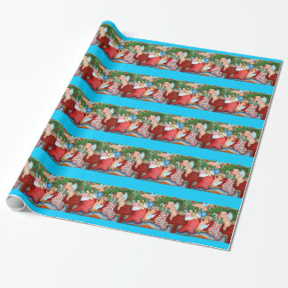 Flying Pigs Stuff Stockings Wrapping Paper