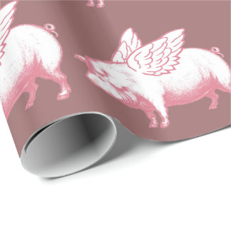 Flying Pigs Wrapping Paper