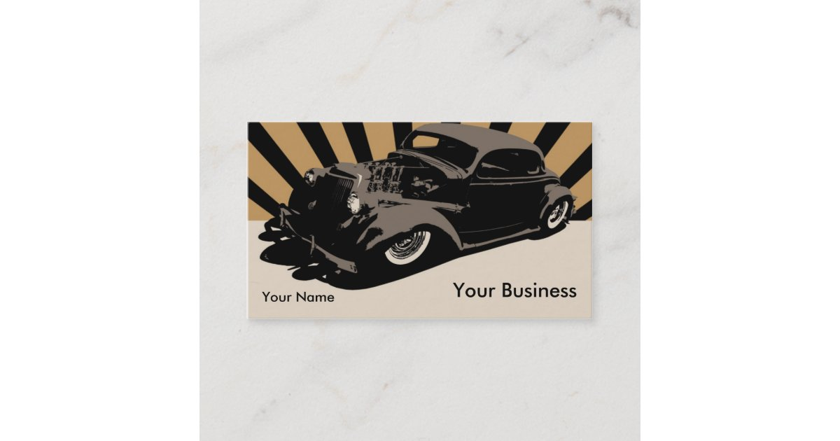 Flying Piston Hot Rod Business Card | Zazzle.com