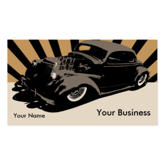 Flying Piston Hot Rod Business Card Template