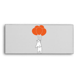 Flying Polar Bear with Balloons Envelope
