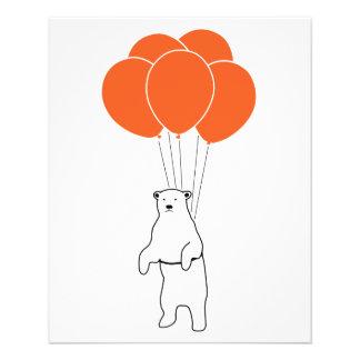 Flying Polar Bear with Balloons Flyer