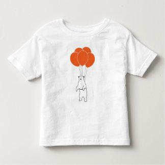 Flying Polar Bear with Balloons Toddler T-shirt