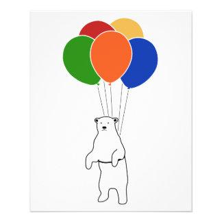 Flying Polar Bear with Birthday Balloons Flyer