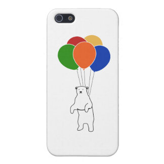 Flying Polar Bear with Birthday Balloons iPhone SE/5/5s Cover
