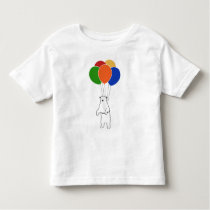Flying Polar Bear with Birthday Balloons Toddler T-shirt