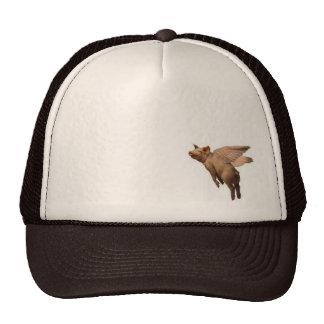 flying pork trucker hat