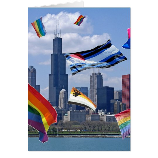 Flying Pride Over Chicago Card