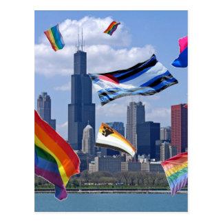 Flying Pride Over Chicago Postcard