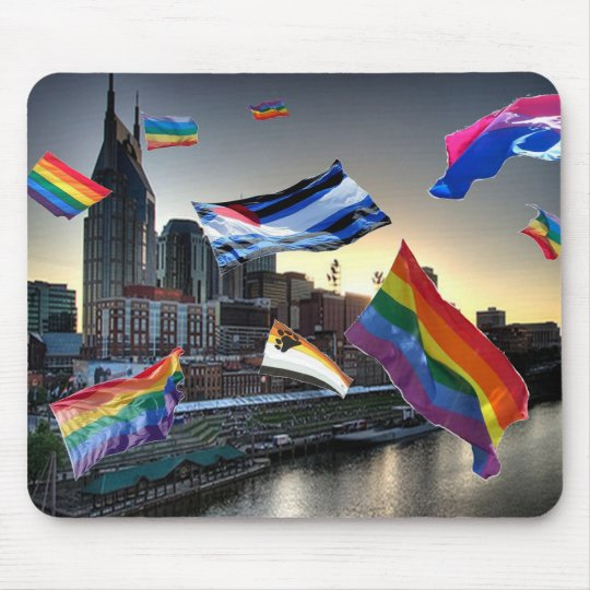 Flying Pride Over Nashville Mouse Pad
