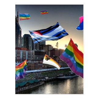 Flying Pride Over Nashville Postcard