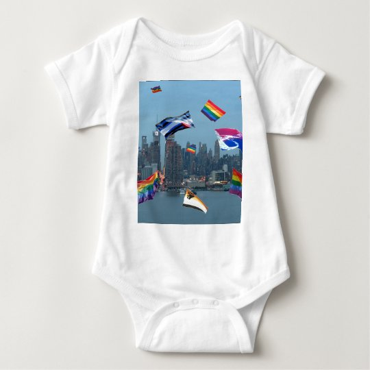 Flying Pride Over New York Baby Bodysuit