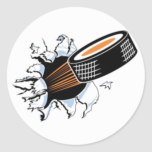 Flying Puck Classic Round Sticker
