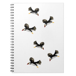 Flying Puffin Fun Art Spiral Note Books