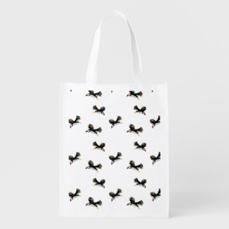 Flying Puffin Fun Reusable Grocery Bag