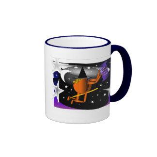 Flying Pumpkin Man Coffee Mugs