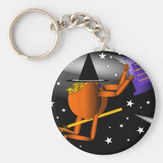 Flying Pumpkin Man Key Chains