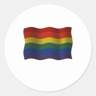 Flying Rainbow pride flag Classic Round Sticker