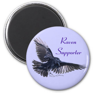 Flying Raven 2 Inch Round Magnet