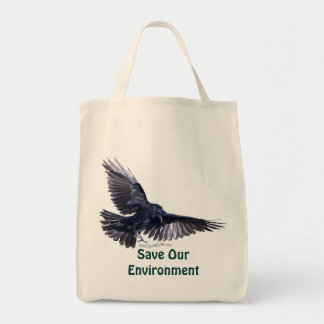 Flying Raven Canvas Bags